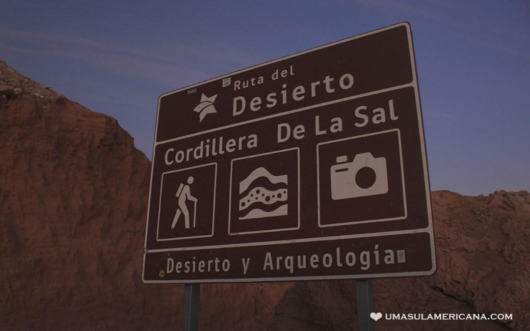 Cordillera de La Sal, Deserto do Atacama
