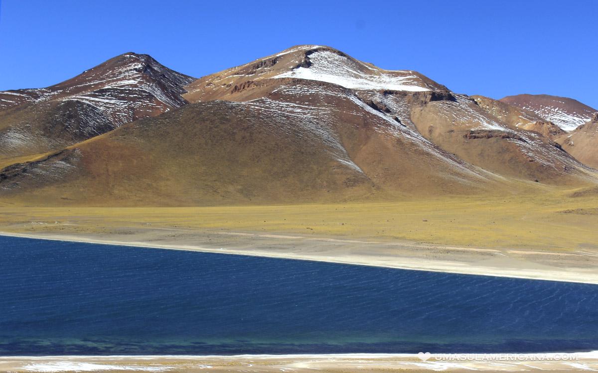 Laguna Miñique no Deserto do Atacama - Lagunas Altiplânicas