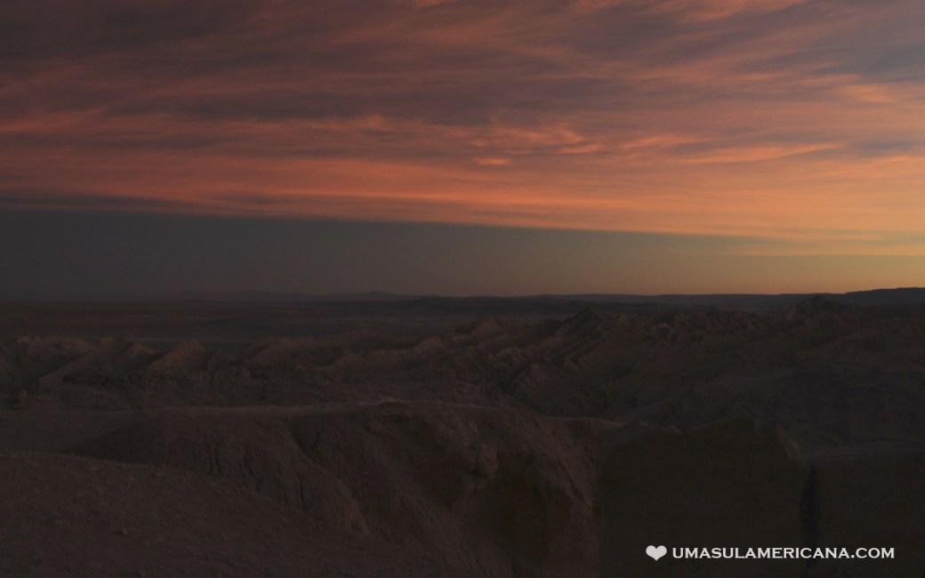 Pôr do Sol na Cordilheira de Sal do Atacama