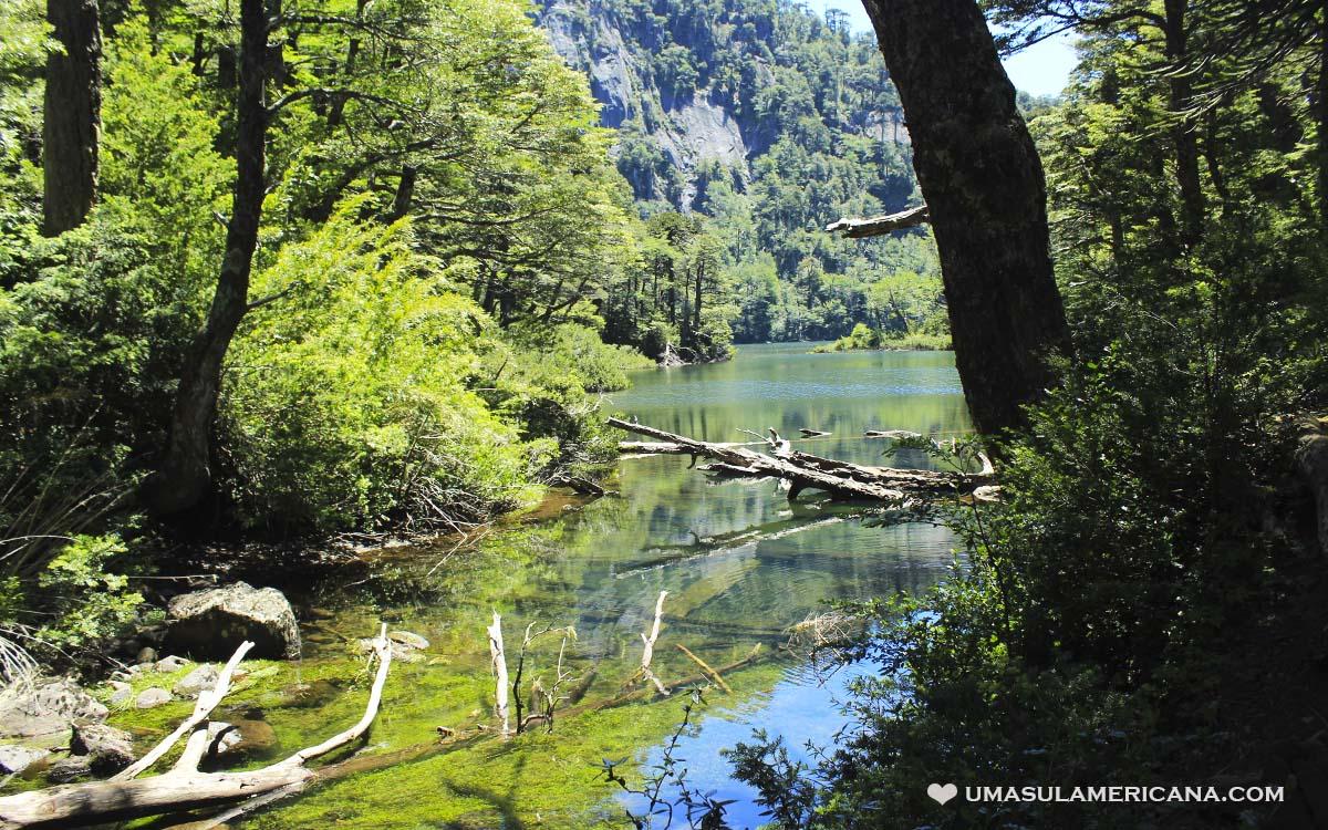 Parque Huerquehue - Lago Chico, sendero Los Lagos, perto de Pucón