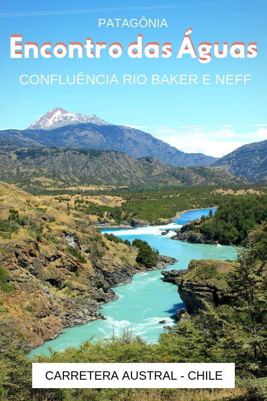 Carretera Austral_ Confluência do Rio Baker e Neff na Patagônia, Sul do Chile