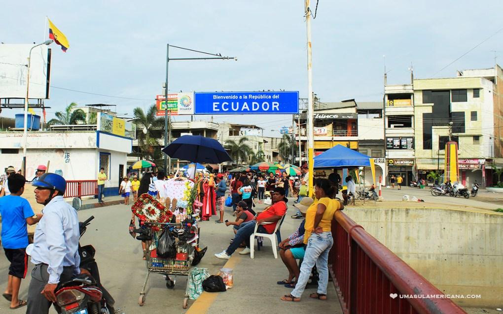 Como chegar no Equador - Fronteira com o Peru