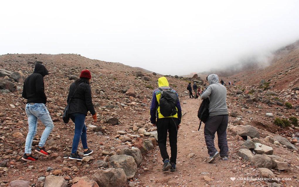 Subida vulcão Chimborazo