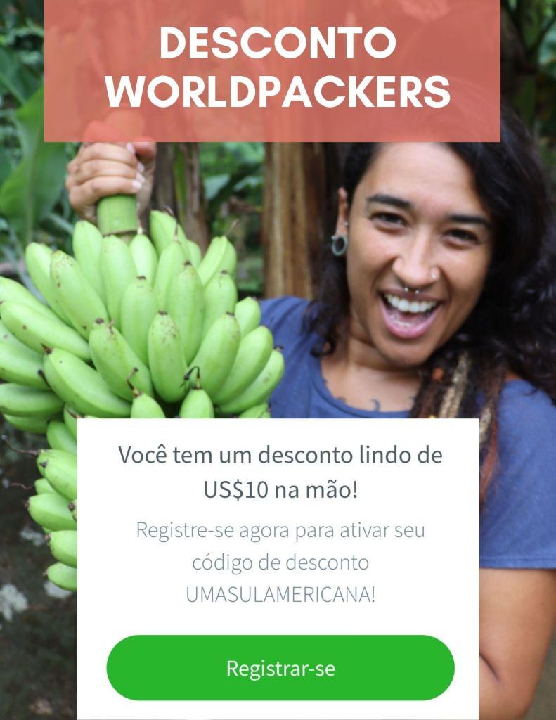 Cupom de desconto Worldpackers pra fazer voluntariado