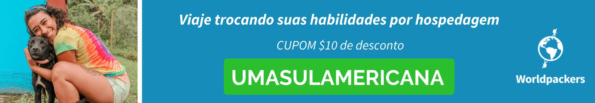Cupom desconto worldpackers - UMASULAMERICANA