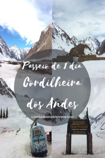 passeio de 1 dia na Cordilheira dos Andes