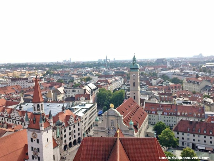 Veja Munique do alto no mirante da Igreja de São Pedro - Alemanha