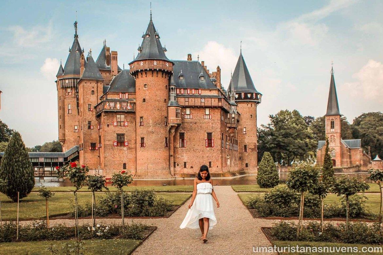 Jardins do Castelo de Haar na Holanda
