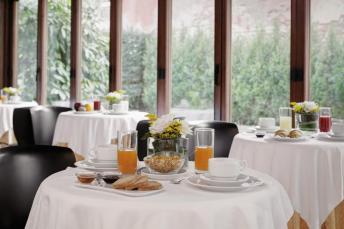 Onde ficar em Veneza - Hotel Pausania - café da manhã