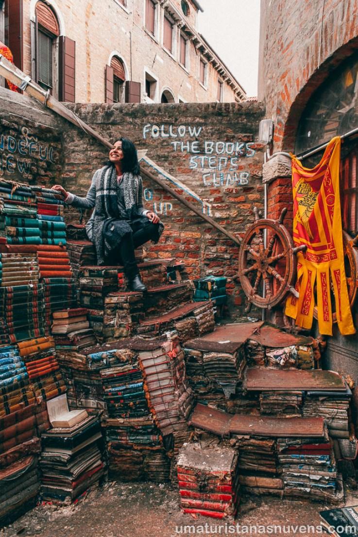 O que fazer em Veneza - Livraria Acqua Alta