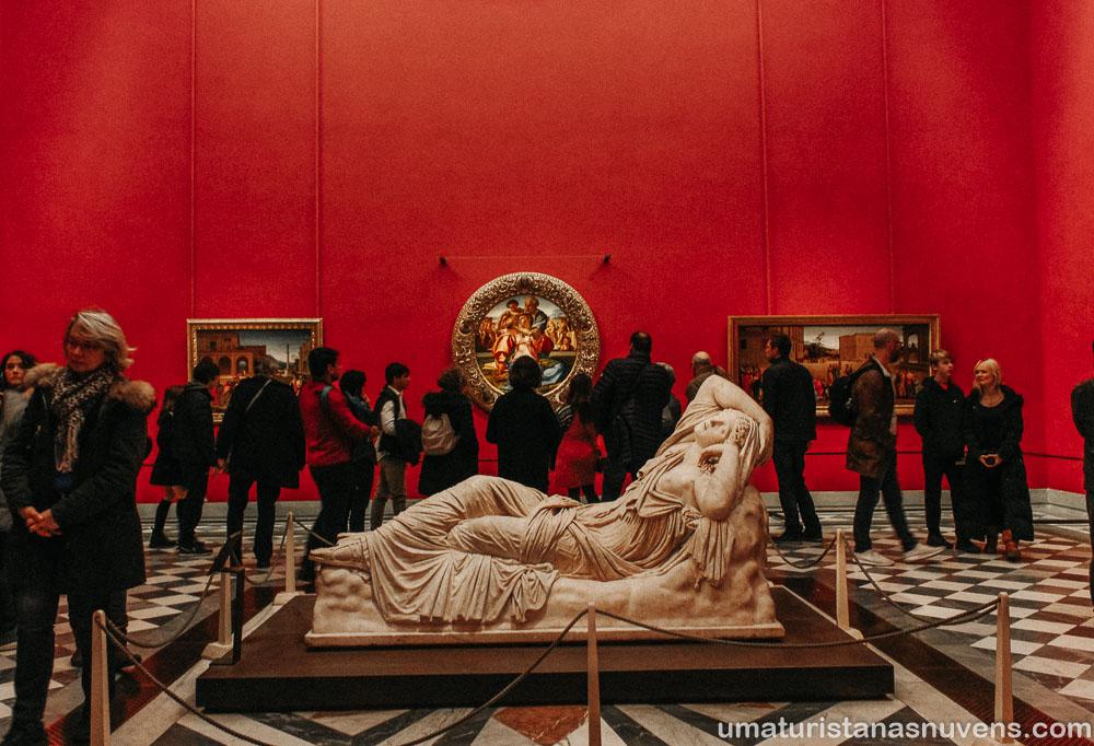 Pintura Tondo Doni na Galeria Uffizi