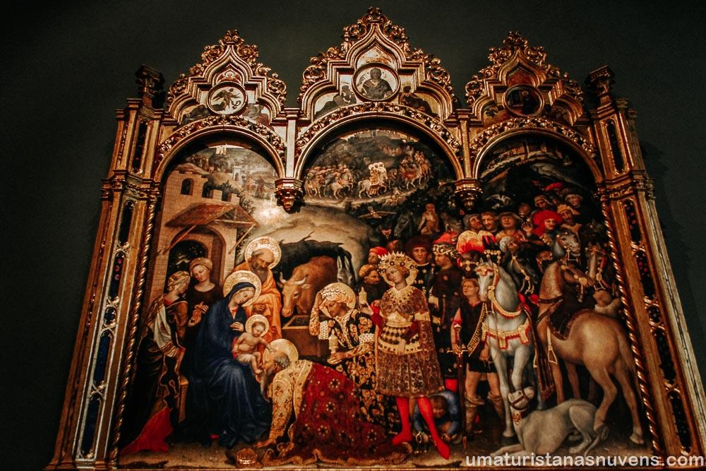 """Quadro """"A Adoração dos Mago"""" - Galeria Uffizi"""