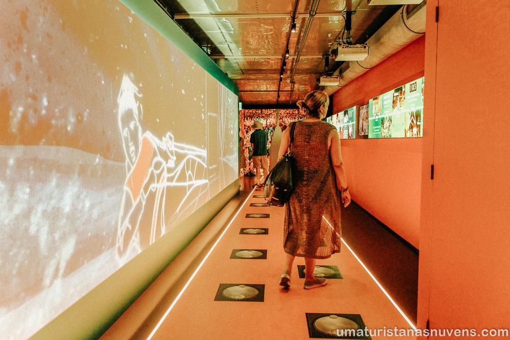 Heineken Experience em Amsterdam - interatividade
