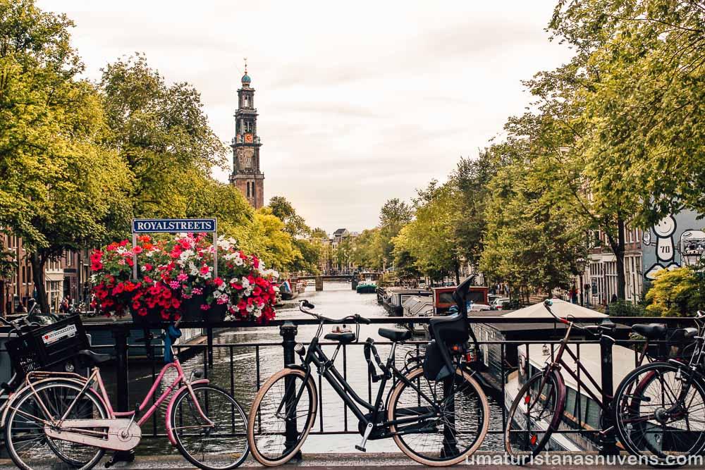 canal Prinsengracht em Amsterdam