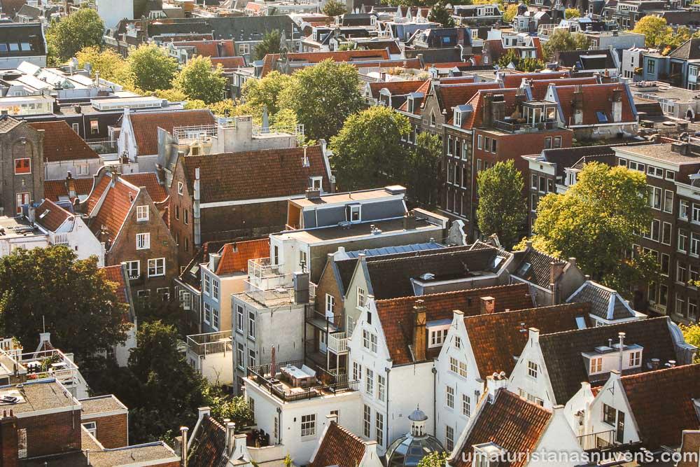 Amsterdam  vista do alto da torre da Westerkerk - igreja