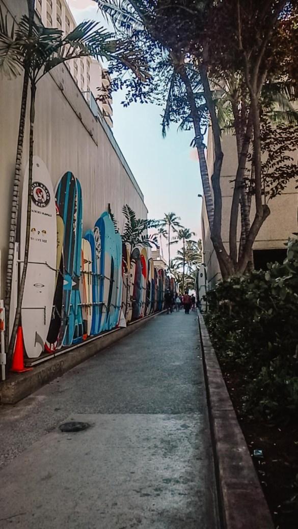 Waikiki em Oahu no Havaí