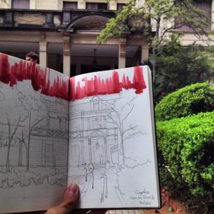 Sketch Casa das Rosas
