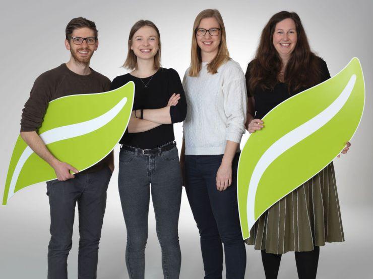 Thomas Mitterecker, Laura Welland, Michaela Punz und Bianca Köck von Umblick als Preisträger von Ökobusiness 2019