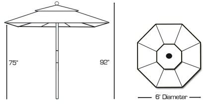 Galte 211 patio umbrella specs