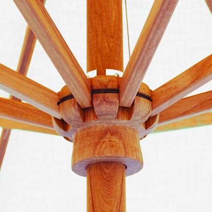 Hub for Galtech 537 9′ Deluxe Round Rotational Tilt Teak Wood Umbrella
