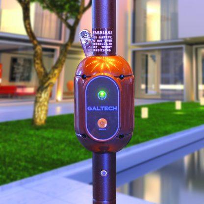 Galtech 986 11' Round Auto Tilt Umbrella LED Lighted