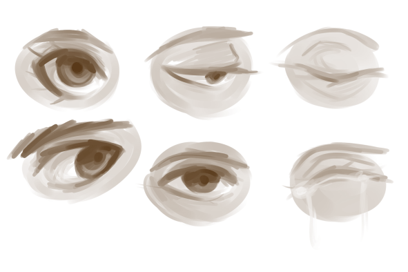 a bunch of eyes