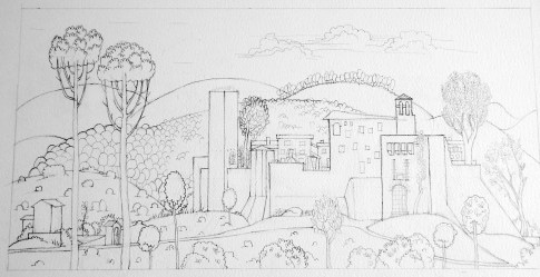 Cartoon of a Medieval Village UmbriArt Gallery