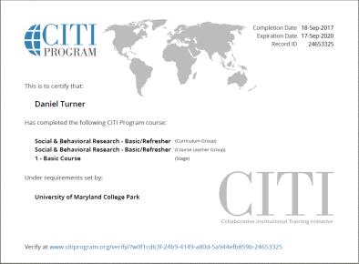 Citi Certificate