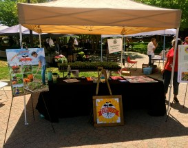 Terp Farm booth at the farmers market