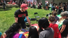 Teaching kids about building healthy meals at UMD Maryland Day