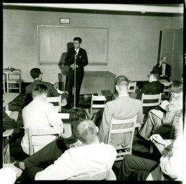 JFK speaking to students at UMD in 1959.