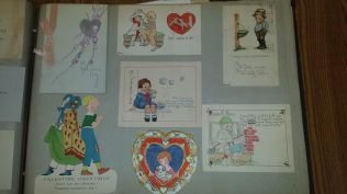 A group of valentines collected by Minnie