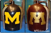 The Little Brown Jug is given to the winner of Michigan vs. Minnesota.