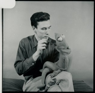 Jim Henson with early Kermit. Photo by Philip Geraci.