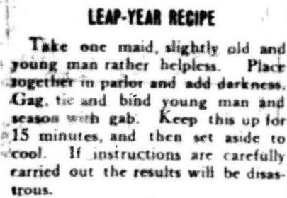 Leap-Year Recipe