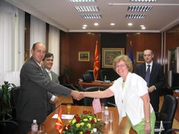 U.S. Ambassador and Macedonian Minister of Culture Sign Grant for Cultural Preservation