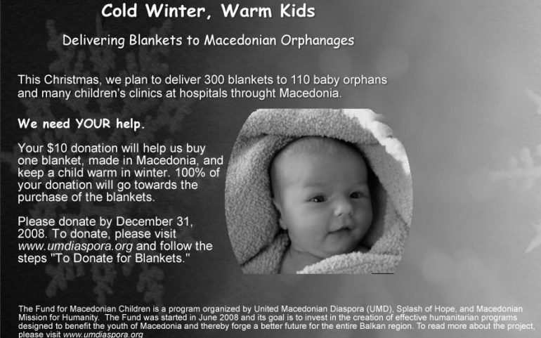 Cold Winter, Warm Kids – Donate to Macedonian Baby Orphans