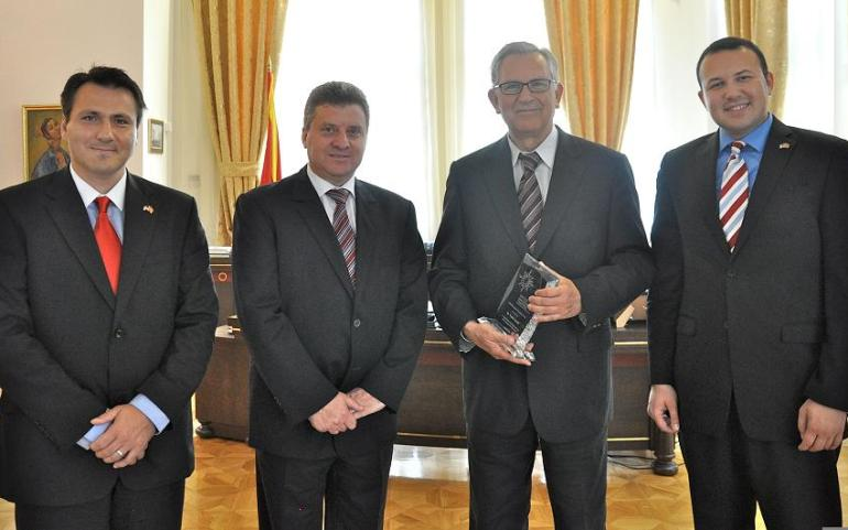 UMD Honors TCA Chairman with Macedonia Friendship Award