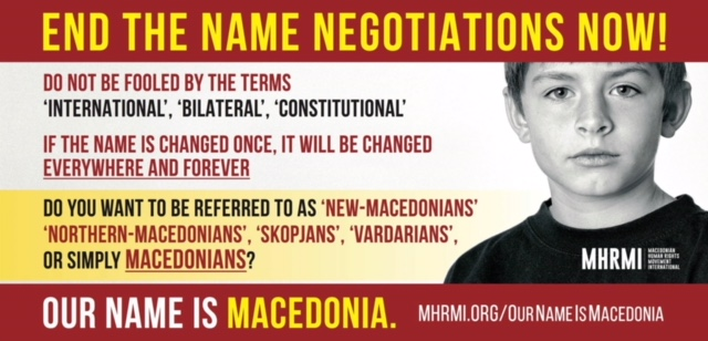UMD Joins MHRMI #OurNameisMacedonia Campaign