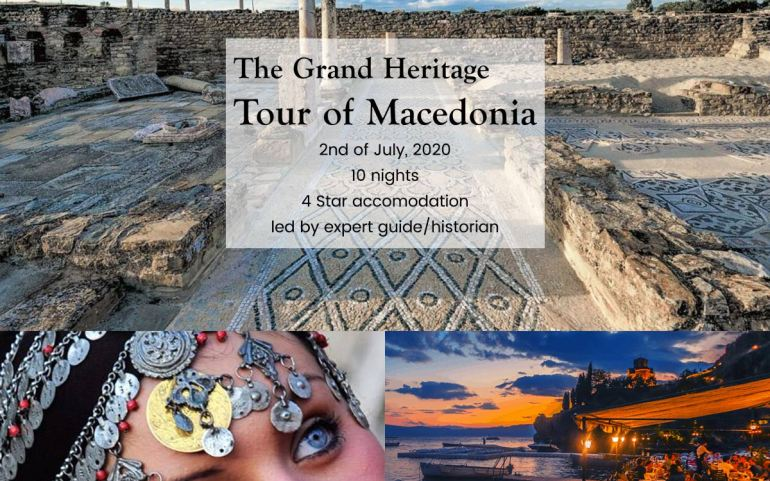 UMD Announces The GRAND HERITAGE TOUR of MACEDONIA