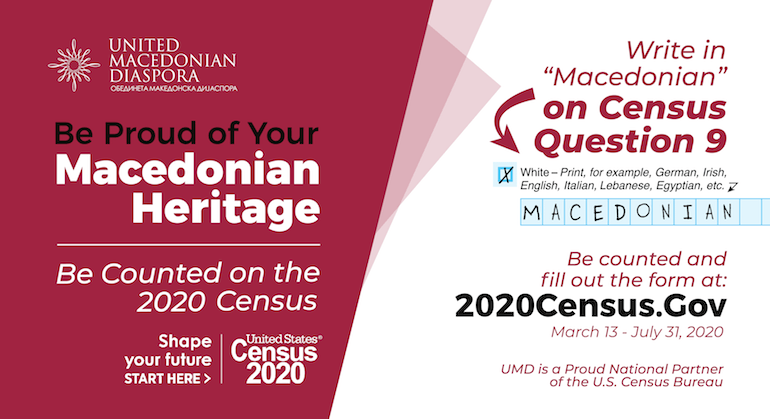 IT'S TIME! Macedonians Count: U.S. Census 2020