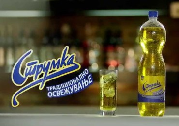 Macedonians promoting Dalvina wine and Strumka beverage – Made in Macedonia