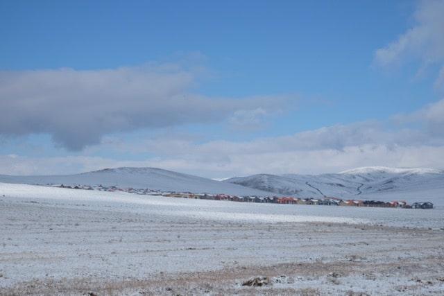 Mongolei in weiss