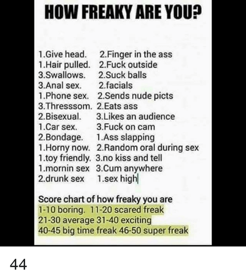 How freaky are you.