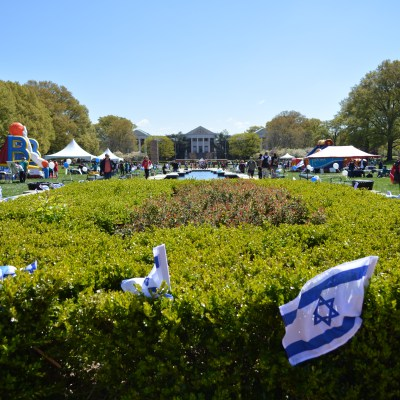 The Jewish Student Union hosted its annual Israel Fest on April 28 at McKeldin Mall. The festival gave students an opportunity to celebrate Israeli culture and history with a variety of games and activities. Dovid Fisher/Mitzpeh