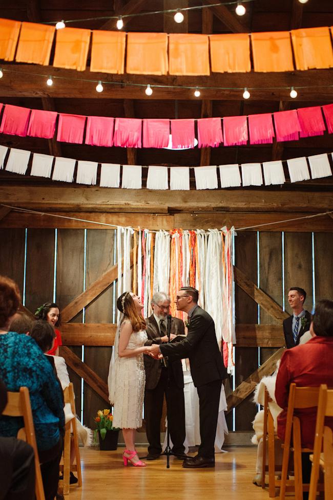 Ruffled - photo by http://veronicavaros.com - http://ruffledblog.com/fallingwater-barn-wedding/