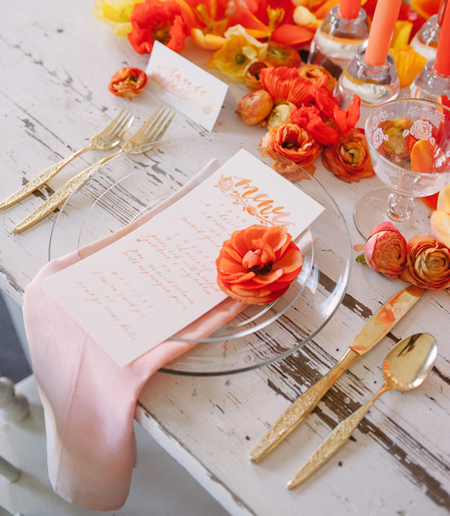 Ruffled - photo by http://www.sweetrootvillage.com/ - http://ruffledblog.com/orange-crush-wedding-ideas/