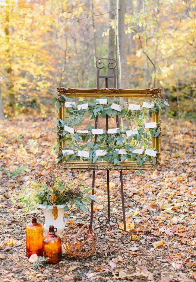 Woodsy autumn wedding shoot at Thorpewood in Thurmont, Maryland.