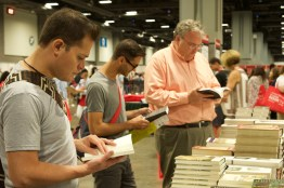 Bookworms felt perfectly at home at the 16th annual National Book Festival at the Walter E. Washington Convention Center held Saturday Sept. 24, 2016. The book sales area located on the Lower Level features books by festival authors and illustrators, organized by genre. (Jordan Stovka/Bloc Reporter)