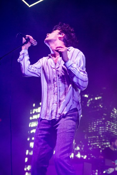 Matty Healy of The 1975 dances during a performance at Eagle Bank Arena on Nov. 9. (Casey Tomchek/Freelance Photographer)
